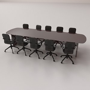 conference table set 3D