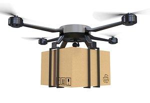 3D Cargo Drone model