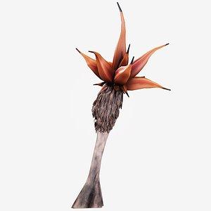 3D alien palm vegetation