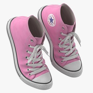 3D Basketball Leather Shoes Bent Pink