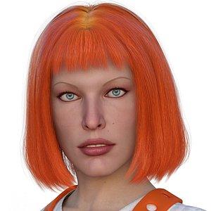 Leeloo Hair 3D model