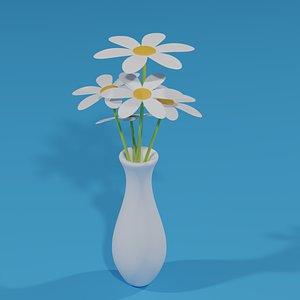 3D Flowers and Vase model