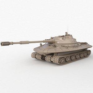 3D Tank Object 279 Soviet Clay Vray