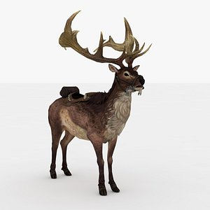 Giant Deer Rigged and Animated 3D model
