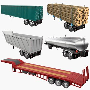 3D model Trailers Collection 3
