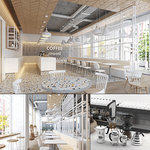 white house coffee interior 3D model