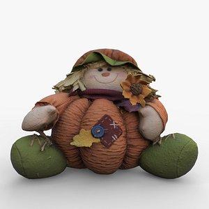 pumpkin plushie plush 3D
