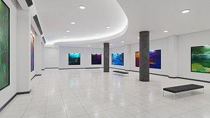 Art Museum Gallery Interior 3  DAE 3D model