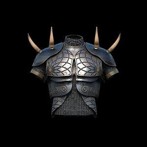 3D armor horned - model