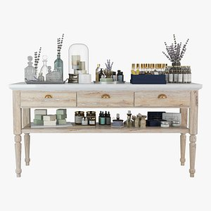 Aromatherapy Shop Cosmetics Table 3D model