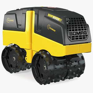 Bomag BMP 8500 Trench Roller Rigged 3D