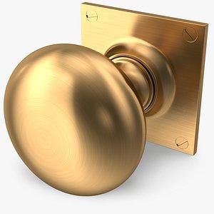 3D door knob golden