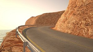 landscape coast road 3D model