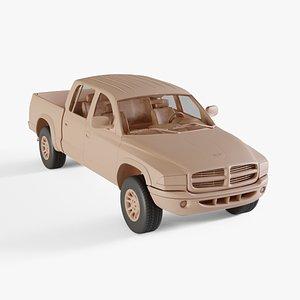 3D 2000 Dodge Dakota Crew Cab model