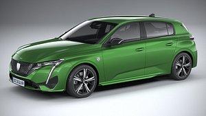 Peugeot 308 2022 3D model