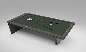 billiards hobby 3D model