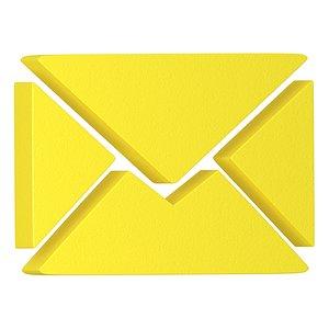 letter icon 3D model