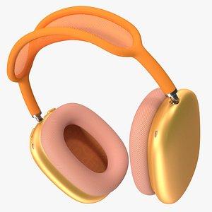 3D headphones orange phones