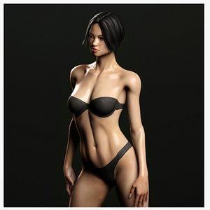 Rigged ASIAN Female 3D model