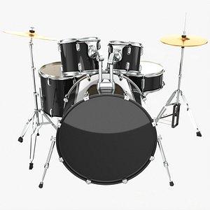 Acoustic drum set 3D model