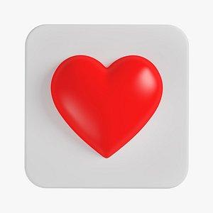 3D Like Heart 04