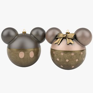 3D mickey minnie mouse christmas balls