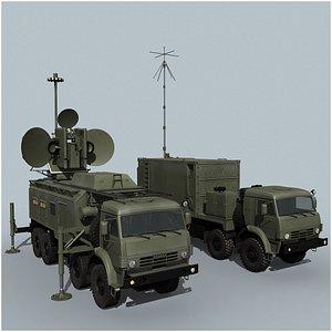 3D Krasuha-4 EW System model