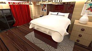 3D model bed room bedroom