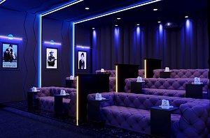 3D room interior theater model