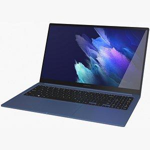 Samsung Galaxy Book 15 2021 Mystic Blue Rigged model
