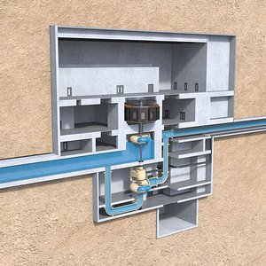 3D Pump Storage hydroelectric Power Plant