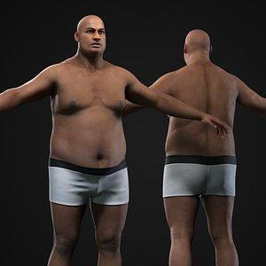 Plus size black man model