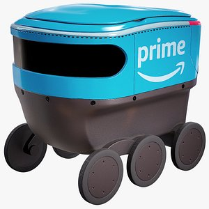 3D Delivery Robot Amazon Prime Scout model