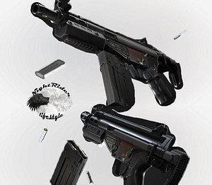 3D HK G3 SAS SMG model