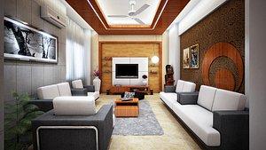 3D Flat Interior