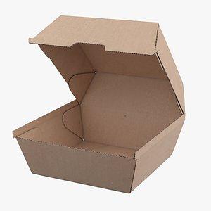 3D model Burger Box