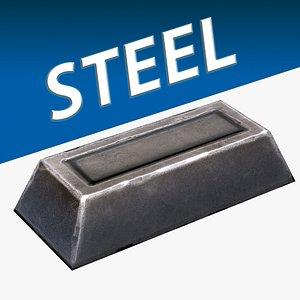 3D Steel Ingot model