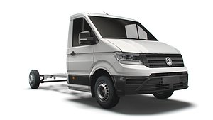 3D VW Crafter CR35 Long Flat frame chassis 2021