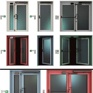 metal doors 3D model