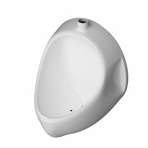 3D urinal bathroom model