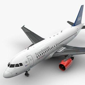 AirbusA319-100SCANDINAVIAN AirlinesL1450 3D model