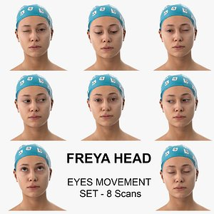 3D Freya Clean Scans Eyes Movement Set - 8 poses Collection