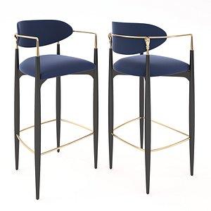 3D Nehema bar stool model