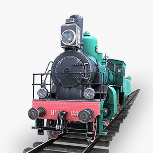 3D Nv Steam Locomotive