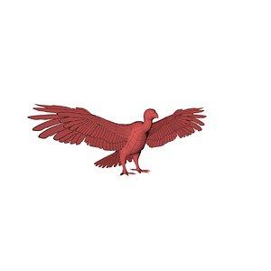 3D model vulture base mesh