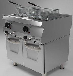 3D fryer modeled