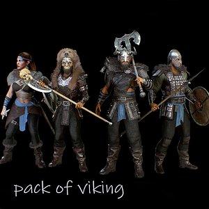 pack of viking model