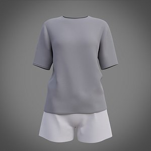 Womens pyjamas - female casual outfit 3D model