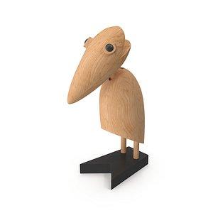 marabou statuette cosmo 3D model