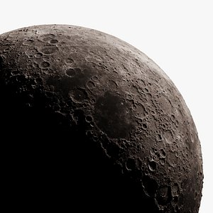 3D moon photorealistic